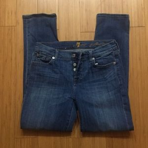 7 for all mankind Josefina skinny boyfriend sz 24